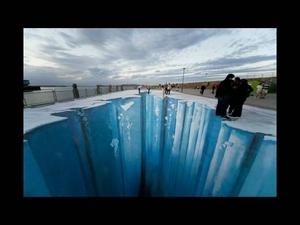 Вижте как се прави 3D street art!