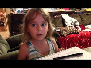 Момиченце твърди, че не е изяло шоколадова поничка. Дали е така?