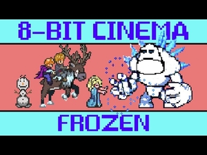 Замръзналото кралство в 8-bit стил!