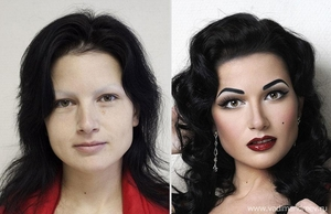 Зашеметяващи снимки на момичета преди и след грим!