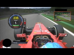Вижте какво виждат пилотите от формула 1 на състезание